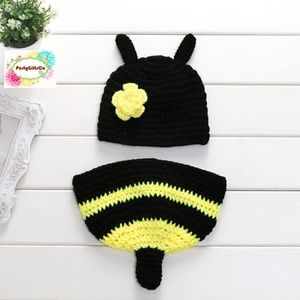 Bumble Bee Baby Crochet Costume, Photography Prop